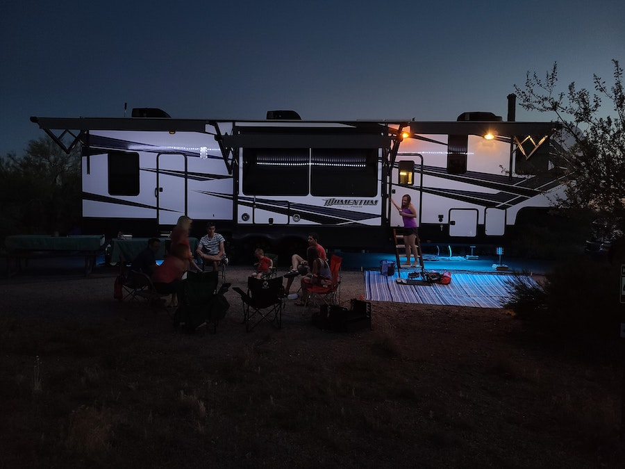 free rv camping with hookups with an entire family